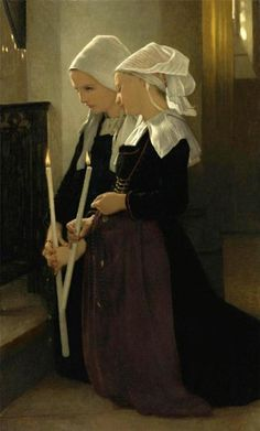 "William-Adolphe Bouquereau. ""Prayer at Sainte Anne d Auray."""