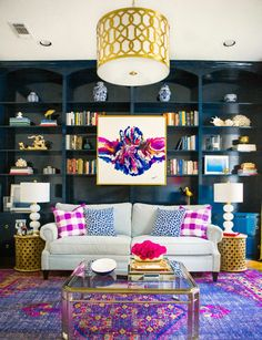 How To Give A Pop Of Color To Your Living Room Design Photo Gallery