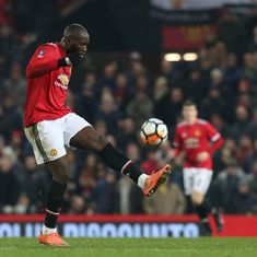 Romelu Lukaku of Manchester United in action during the Emirates FA Cup Third Round match between Manchester United and Derby County at Old Trafford...