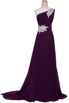Evening Dress Grape Chiffon Evening Dress Long by LOVEBO0507, $149.00