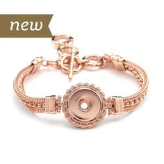 Magnolia and Vine #S1179 Rose Gold Dream Weaver Bracelet available at MyStyleInASnap.com - BUY 4 SNAPS, GET 1 FREE! Come see what interchangeable jewelry can do for your wardrobe and your budget.