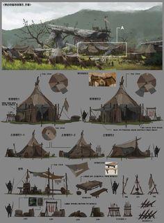 ::orcs settle around an ancient place of power:: ArtStation - Professional work / Byung Cheol (FEBUD) Concept Art Landscape, Fantasy Landscape, Les Gobelins, 2d Game Art, Building Concept, Prop Design, Wow Art, Environment Concept Art, Le Far West