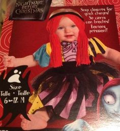 Disney SALLY Nightmare Before Christmas Halloween Costume New 12 - 18 Months  #Disguise
