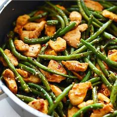 Clean Eating Kung Pao Chicken By @fitfoodiefinds 3 large chicken breasts, thinly sliced 2 tablespoons of garlic, minced 2 tablespoons sesame oil 1 - 1.5 pounds of green beens 2 tablespoons coconut aminos (or soy sauce <-- not paleo) 1 tablespoon sriracha 1 tablespoon chili paste (or more, to taste) 1 tablespoon honey (or more, to taste) salt and pepper, to taste 1 teaspoon sesame seeds optional: crushed peanuts/cashews Instructions First, prep chicken by seasoning with salt and pepper and…