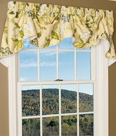 Simply Roses Lined Tailored Valance Austrian Valance Rod
