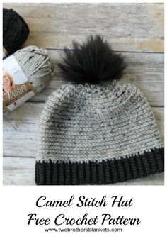 The Camel Stitch Hat crochet pattern comes with 3 amazing brim options and with instructions for sizes toddler to adult! It is a fan favorite! Crochet Hat With Brim, Crochet Hats For Boys, Crochet Men, Crochet Winter Hats, Cute Crochet, Crochet Gifts, Beanie Pattern Free, Crochet Beanie Pattern, Crochet Patterns