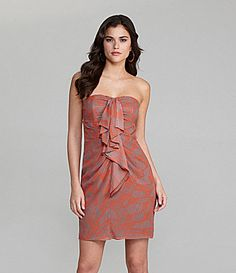 Gianni Bini Aubrey Ruffle-Front Dress | Dillards.com