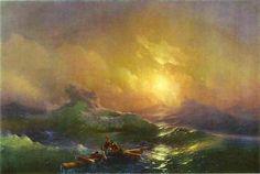 Ivan Aivazovsky, The Tenth Wave   THE TENTH WAVE By Ivan Aivazovsky Artwork Description Medium: Oil on canvas Creation Date: 1850
