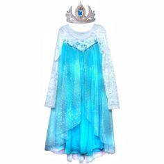 Disney Movie Frozen Elsa Costume Dress Tiara Set Sz 5 6Y Really Stunning Look   eBay