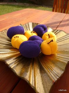 Felt Apricots and Plums Handcrafted Childrens Toys by LittleFruits