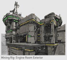 Halo 5 Concept- Rig Engine Room, Kory Hubbell on ArtStation at https://www.artstation.com/artwork/q0w02