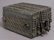 The decoration of Gothic iron locks and keys was often elaborate and of the highest standard of workmanship. The motifs were frequently drawn from Gothic architecture, reproducing on a miniature scale complicated tracery patterns and even tiny statuettes