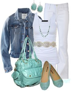 turquoise, white, denim...love!