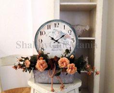Orologio retrò dipinto a mano Clocks, I Shop, Shabby Chic, Wall, Vintage, Home Decor, Chic, Homemade Home Decor, Tag Watches