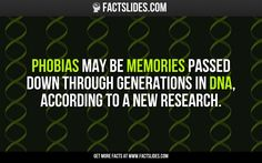 Phobias may be memories passed down through generations in DNA, according to a new research.
