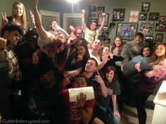 Crazy college kids fill Chelle's house right at the end of the 31 days but Chelle STILL finished the office!