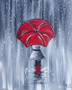 wine and canvas Wine Painting, Painting & Drawing, Wine And Paint Night, Wine And Canvas, Umbrella Art, Spring Painting, Paint And Sip, Easy Paintings, Paint Party