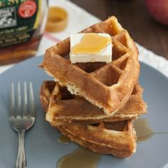 Looking for something to do with leftover ricotta?  These Cornmeal and Ricotta Waffles are the perfect solution!