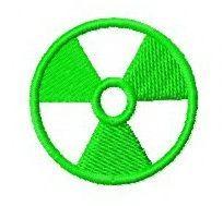 Nuclear hazard sign machine embroidery design