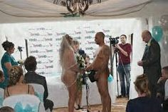 For most brides and grooms, deciding what to wear on the Big  Day is one of the most important parts of wedding planning. But one New  Zealand couple didn't have to shop for wedding outfits — because they  got married in the Unclad. Nick and Wendy Lowe were married at the Wellington Naturist Club o