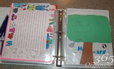 How To Store Kid\'s School Papers - Organize 365