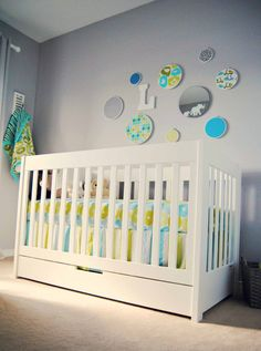 love the color scheme with our #babyletto mercer crib!