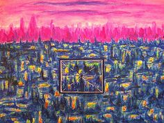 Modern Abstract Painting Jerusalem  Watercolor for  by JannasCraft, $229.00