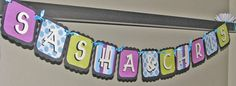 Bridal Shower / Wedding Custom Name Banner  by sweetshoppepaperie, $26.00