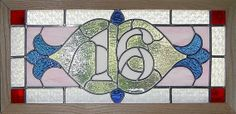 Custom Made House Number Stained Glass Transom