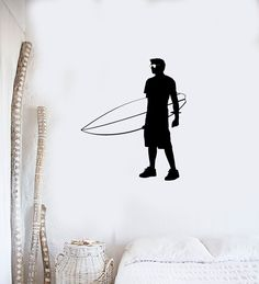 Wall Decal Extreme Surfer Beach Holiday Sea Summer Wave Vinyl Decal (ed387)