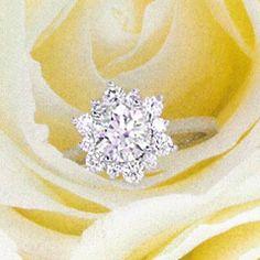 Hearts On Fire rings featured in Inside Weddings Winter 2015 Fire Ring, Fire Heart, Eternity Bands, Diamond Engagement Rings, Diamond Cuts, Jewelry Design, Hearts, Jewels, Weddings