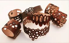 cuffmodern ::: contemporary leather cuffs, bracelets, chokers, and necklaces ::: by colinfrancis design