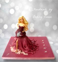Walking Barbie doll cake