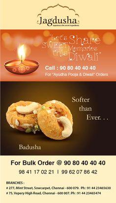 Enjoy the True taste of Badusha with Jagdusha Sweets & Savories. . .It's time to taste. . .