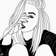 #Grunge #Art #Lips #Fashion #Black #Drawing