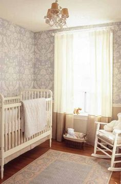 LOVE this nursery~ its subtle and neutral yet so beautiful, so could fit either boy or girl room easily and would be a snap to un-nursery-fy it back to a normal room