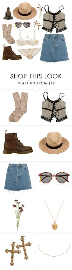 """""""Meditating in the Sun"""" by becoakes on Polyvore featuring Elle Macpherson Intimates, Brooks Brothers, Razu Mikhina, Dr. Martens, Lack of Color, RE/DONE, Yves Saint Laurent, OKA, Rachel Essex and Rock 'N Rose"""