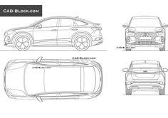 Audi Q4 e-tron Sportback CAD Block Audi Q4, Cad Blocks, Autocad, Vehicles, Car, Vehicle, Tools