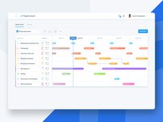Project management tool UI by Marcin Janas for Monterail on Dribbble Dashboard Interface, Dashboard Design, User Interface Design, Design Ios, Chart Design, Graphic Design, Calendar Layout, Calendar Design, Design Thinking