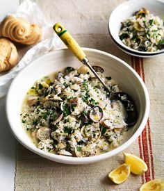 Genovese vongole with rice :: Gourmet Traveller Magazine Mobile