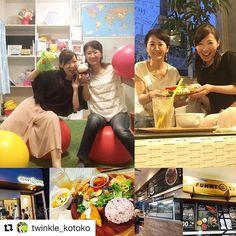 今日は名古屋の覚王山まで足ツボに行った後谷川琴子ちゃんと合流&彼女が運営する子ども英語教室Twinkle Kidsに遊びに行きましたバイリンガルMCとしてのますますの活躍にも期待してます I went to a reflexology session in Nagoya and saw my friend and peer MC Kotoko who runs her own English school for kids in Kakuozan just nearby.  Her classroom is so cute with lots of fun stuff and decorations!! It's always good to get together with inspiring people like her. #バイリンガルMC #バイリンガル司会 #englishspeakingmc #japan #nagoya #bilingualmc  #Repost @twinkle_kotoko (@get_repost)…