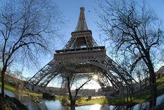 Tour Eiffel, fisheye.