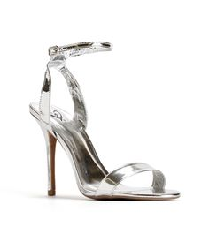 Lupid 2 Silver Glitter Ankle Strap Heels | Products, Glitter and ...