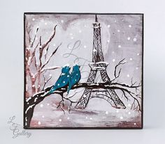 Eiffel Tower Art Valentines Art Teal by LindaFehlenGallery on Etsy
