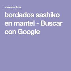 bordados sashiko en mantel - Buscar con Google