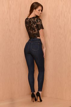 Essential High Waist Skinny Jeans - Dark Wash