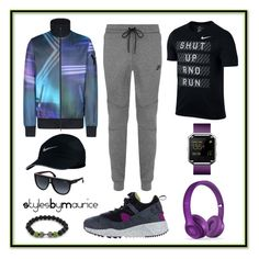 """""""Men's Athletic Apparel"""" by mauricee-brewer on Polyvore featuring NIKE, Y-3, Fitbit, Beats by Dr. Dre, Carrera, men's fashion and menswear"""