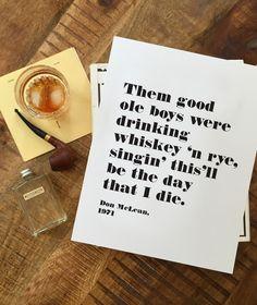 Whiskey & Rye Print