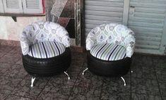 Inspiring DIY Home Decor Tips – DecorativeAllure Tire Furniture, Studio Furniture, Recycled Furniture, Diy Sofa, Diy Chair, Homemade Home Decor, Diy Home Decor, Recycler Diy, Tire Ottoman