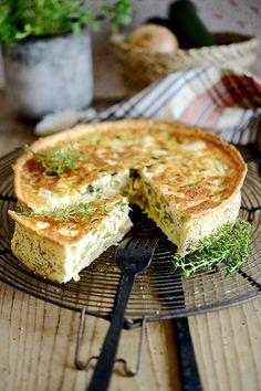 Zucchini + Feta Torte